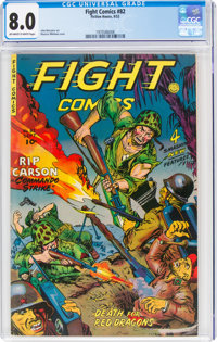 Fight Comics #82 (Fiction House, 1952) CGC VF 8.0 Off-white to white pages