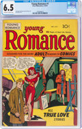 Golden Age (1938-1955):Romance, Young Romance Comics #1 (Prize, 1947) CGC FN+ 6.5 Off-white to white pages....