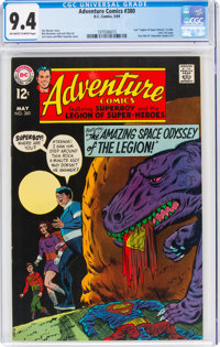 Adventure Comics #380 (DC, 1969) CGC NM 9.4 Off-white to white pages