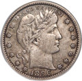 Barber Quarters, 1896-S 25C VF35 PCGS....
