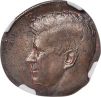 Undated 50C Kennedy Half Dollar -- Struck on a Cent Planchet, MS62 Brown NGC