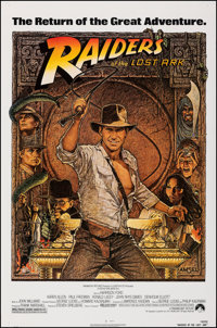 """Raiders of the Lost Ark (Paramount, R-1982). Rolled, Very Fine+. One Sheet (27"""" X 41""""). Richard Amsel Artwork..."""