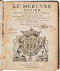 Books:Natural History Books & Prints, [Pierre de Rosnel]. Le Mercure Indien, ou le Tresor des Indes... Paris: [No publisher, Avec Pri...