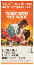 "Movie Posters:Academy Award Winners, Gone with the Wind (MGM, R-1967). Very Fine+ on Linen. Three Sheet (41"" X 81). Howard Terpning Artwork. Academy Award Winner..."