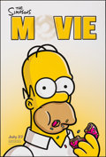 """Movie Posters:Animation, The Simpsons Movie & Other Lot (20th Century Fox, 2007). Rolled, Very Fine. One Sheets (2) (27"""" X 40"""") DS Advance Sty..."""