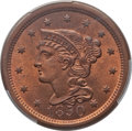 1850 1C N-7, R.2, MS66 Red and Brown PCGS. CAC. PCGS Population: (1/0 and 0/0+). NGC Census: (4/0 and 0/0+). ...(PCGS# 4...