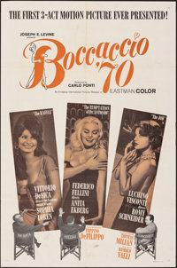 "Boccaccio '70 (Embassy, 1962). Folded, Overall: Fine+. One Sheet (27"" X 41""), Photos (5) (8"" X 10"")..."