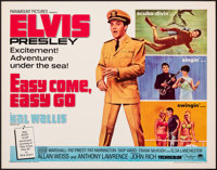 "Easy Come, Easy Go (Paramount, 1967). Rolled, Very Fine. Half Sheet (22"" X 28""). Elvis Presley"
