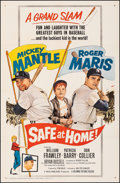 "Movie Posters:Sports, Safe at Home (Columbia, 1962). Very Fine+ on Linen. One Sheet (27"" X 41""). Sports.. ..."