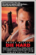 "Movie Posters:Action, Die Hard (20th Century Fox, 1988). Rolled, Very Fine-. One Sheet (27"" X 41"") SS Advance. Action.. ..."
