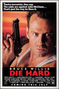 """Die Hard (20th Century Fox, 1988). Rolled, Very Fine-. One Sheet (27"""" X 41"""") SS Advance. Action"""