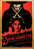 """Movie Posters:Action, V for Vendetta (Warner Bros., 2005). Rolled, Very Fine. One Sheet (27"""" X 40"""") SS, Advance. Action.. ..."""