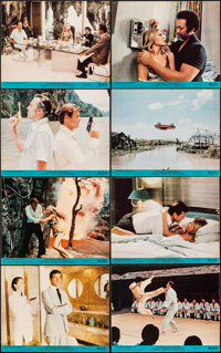 """The Man with the Golden Gun (United Artists, 1974). Fine/Very Fine. Mini Lobby Card Set of 8 (8"""" X 10""""). James..."""