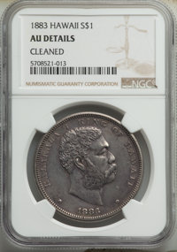 1883 $1 Hawaii Dollar -- Cleaned -- NGC Details. AU. Mintage 46,348. ...(PCGS# 10995)