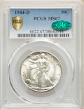 1944-D 50C MS67 PCGS. CAC. PCGS Population: (291/1). NGC Census: (225/1). CDN: $450 Whsle. Bid for NGC/PCGS MS67. Mintag...
