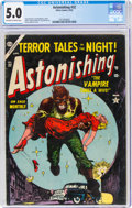 Golden Age (1938-1955):Horror, Astonishing #32 (Atlas, 1954) CGC VG/FN 5.0 Off-white to white pages....