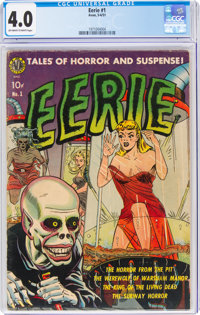 Eerie #1 (1951) (Avon, 1951) CGC VG 4.0 Off-white to white pages