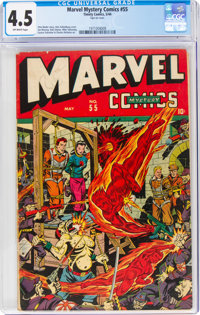 Marvel Mystery Comics #55 (Timely, 1944) CGC VG+ 4.5 Off-white pages