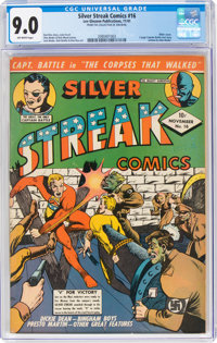 Silver Streak Comics #16 (Lev Gleason, 1941) CGC VF/NM 9.0 Off-white pages