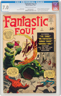 Silver Age (1956-1969):Superhero, Fantastic Four #1 (Marvel, 1961) CGC FN/VF 7.0 Cream to off-white pages....
