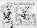 "Original Comic Art:Complete Story, John Romita Jr. and Klaus Janson Amazing Spider-Man #571 Complete 24-Page ""New Ways to Die Part Four: Opposites At... (Total: 23 Original Art)"