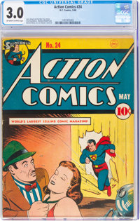 Action Comics #24 (DC, 1940) CGC GD/VG 3.0 Off-white to white pages
