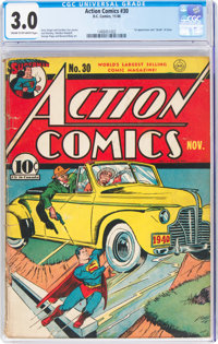 Action Comics #30 (DC, 1940) CGC GD/VG 3.0 Cream to off-white pages