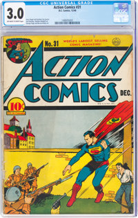 Action Comics #31 (DC, 1940) CGC GD/VG 3.0 Off-white to white pages