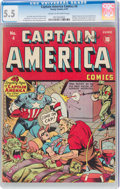 Golden Age (1938-1955):Superhero, Captain America Comics #4 (Timely, 1941) CGC FN- 5.5 Cream to off-white pages....