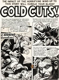 "Jack Davis Shock SuspenStories #5 Complete 7-Page Story ""Cold Cuts!"" Original Art (EC, 1952).... (Total: 7 Ori..."