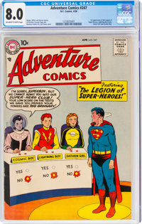 Adventure Comics #247 (DC, 1958) CGC VF 8.0 Off-white to white pages