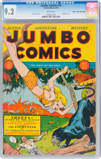 Jumbo Comics #18 Mile High Pedigree (Fiction House, 1940) CGC NM- 9.2 White pages