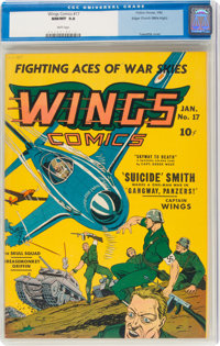 Wings Comics #17 (Fiction House, 1942) CGC NM/MT 9.8 White pages
