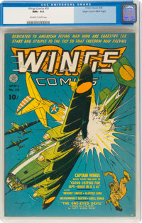 Wings Comics #20 Mile High Pedigree (Fiction House, 1942) CGC NM+ 9.6 Off-white to white pages