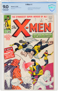 X-Men #1 (Marvel, 1963) CBCS VF/NM 9.0 Off-white to white pages