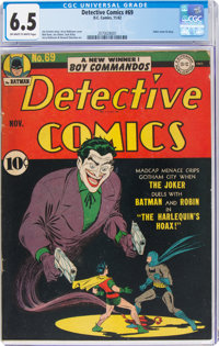 Detective Comics #69 (DC, 1942) CGC FN+ 6.5 Off-white to white pages