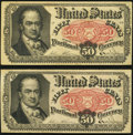 Fractional Currency:Fifth Issue, Fr. 1381 50¢ Fifth Issue Very Fine. Two Examples,. ... (Total: 2 notes)