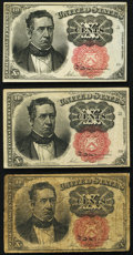 Fractional Currency:Fifth Issue, Fr. 1266 10¢ Fifth Issue Three Examples Very Good or Better.. ... (Total: 3 notes)