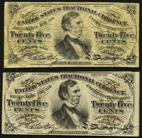 Fr. 1291 25¢ Third Issue Very Good-Fine; Fr. 1292 25¢ Third Issue New. ... (Total: 2 notes)
