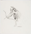 Original Comic Art:Miscellaneous, Bernie Wrightson - Horror Preliminary Illustration Original Art (undated)....