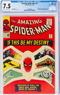 The Amazing Spider-Man #31 (Marvel, 1965) CGC VF- 7.5 Off-white to white pages