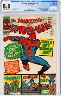 The Amazing Spider-Man #38 (Marvel, 1966) CGC VF 8.0 Off-white to white pages