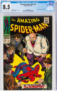 The Amazing Spider-Man #51 (Marvel, 1967) CGC VF+ 8.5 Off-white to white pages