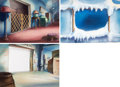 Animation Art:Painted cel background, The Helicopter Background Art Group ...