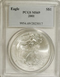 Modern Bullion Coins: , 2001 $1 Silver Eagle MS69 PCGS. PCGS Population (17873/0). NGCCensus: (0/0). Numismedia Wsl. Price: $26. (#9954)...