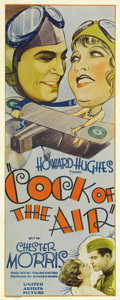 "Movie Posters:Comedy, Cock of the Air (United Artists, 1932). Insert (14"" X 36""). ChesterMorris and Billie Dove star in this Howard Hughes produc..."