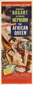 "Movie Posters:Adventure, The African Queen (United Artists, 1952). Insert (14"" X 36""). JohnHuston led his cast and crew on an amazing adventure when..."
