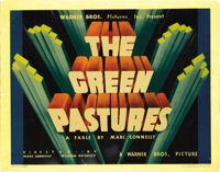 """The Green Pastures (Warner Brothers, 1936). Title Lobby Card (11"""" X 14""""). This film started its life as a seri..."""