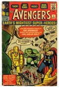Silver Age (1956-1969):Superhero, The Avengers #1 (Marvel, 1963) Condition: VG. Historic issue that features the first appearance of the Avengers (Thor, Iron ...