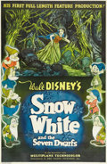 "Movie Posters:Animated, Snow White and the Seven Dwarfs (RKO, 1937). One Sheet (27"" X 41.25"") Style C. Disney invested $1,500,000 and three years of..."
